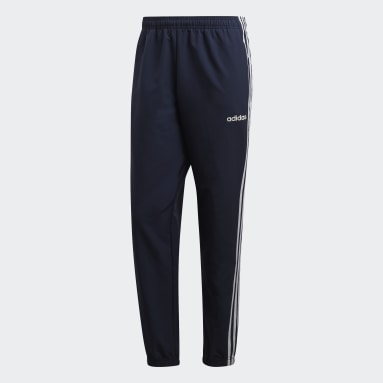 Heren Fitness En Training blauw Essentials 3-Stripes Windbroek