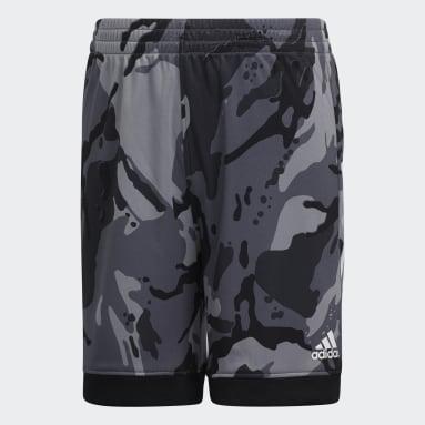 Children Training Black AEROREADY Core Camo Shorts