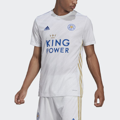 Voetbal Wit Leicester City 20/21 Uitshirt