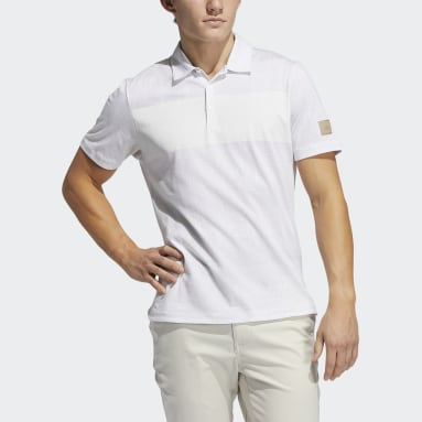 Men Golf White Adicross Desert Print Polo Shirt