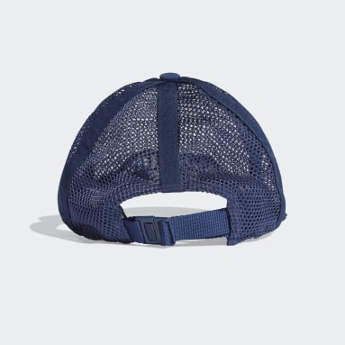 Volleyball Mesh Baseball Kappe Blau