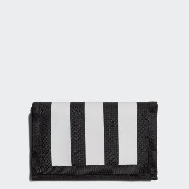 Tennis Zwart Essentials 3-Stripes Portemonnee