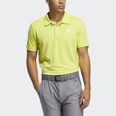 Men Golf Yellow Advantage Novelty Heathered Polo Shirt