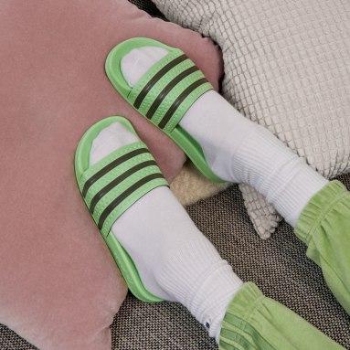 Ženy Originals zelená Pantofle adidas adilette