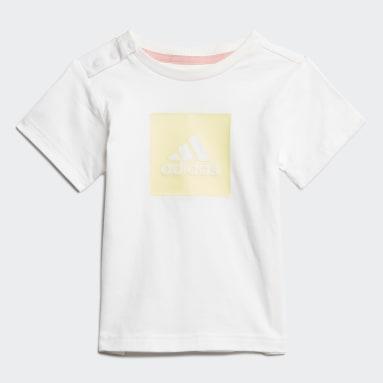 Girls Gym & Training White Logo Summer Set