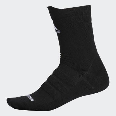 Men's Football Black Alphaskin Hydro-Shield Lightweight Cushioned Crew Socks