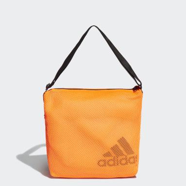 Dames Tennis Oranje Mesh Carryall Schoudertas