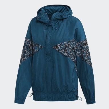 Cortavientos con capucha Athletics Light Azul Mujer adidas by Stella McCartney