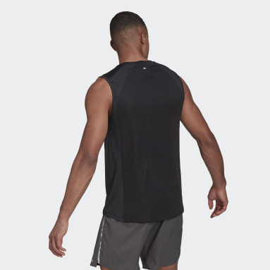 Men Running Black HEAT.RDY Running Tank Top