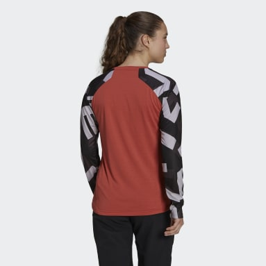 T-shirt Five Ten TrailX Long Sleeve Rouge Femmes Five Ten