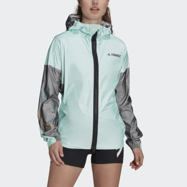 Chaqueta impermeable Terrex Agravic Pro Trail Running Verde Mujer TERREX