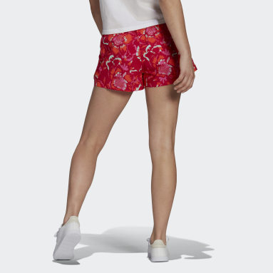 Women's Essentials Red FARM Rio Floral Print Shorts