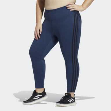 Tight Believe This 3-Stripes 7/8 (Grandes tailles) Bleu Femmes Yoga