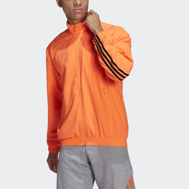 Men Sportswear Orange adidas Sportswear Woven 3-Stripes Track Top