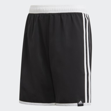 Boys Simning Svart 3-Stripes Swim Shorts