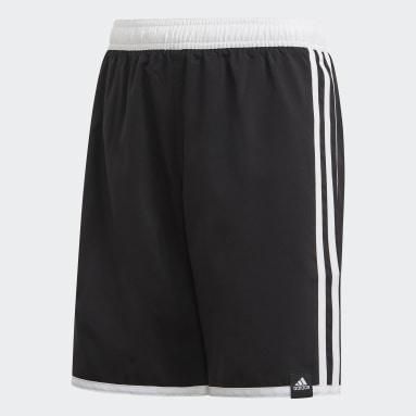 Kluci Plavání černá Plavecké šortky 3-Stripes
