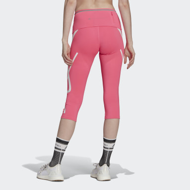 Women adidas by Stella McCartney Pink adidas by Stella McCartney TRUEPACE 3/4 Leggings