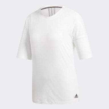 Remera Must Haves 3 rayas Blanco Mujer Sportswear