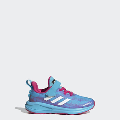 Kids Running Turquoise adidas FortaRun x LEGO® Elastic Lace Top Strap Shoes