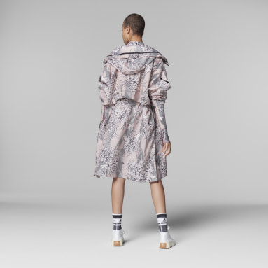 Parka adidas by Stella McCartney Long Lightweight Allover Print Rose Femmes adidas by Stella McCartney