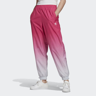 Women Originals Burgundy Adicolor Trefoil 3D Tracksuit Bottoms