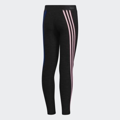 Youth Training Black AEROREADY Stripe Tights