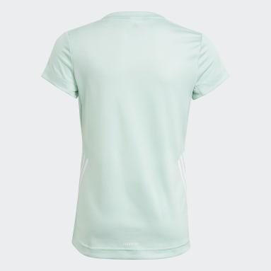 Youth 8-16 Years Gym & Training Turquoise AEROREADY 3-Stripes T-Shirt