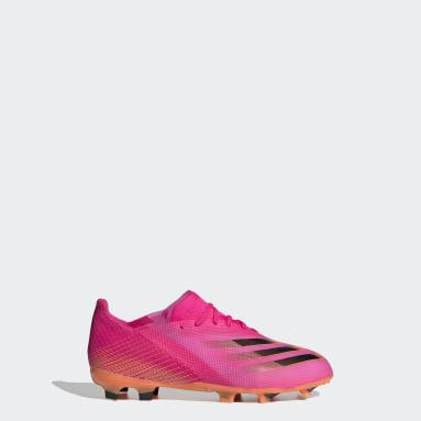 Botas de Futebol X Ghosted.1 – Piso firme Rosa Rapazes Futebol