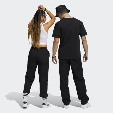 Originals Black Loose Tracksuit Bottoms (Gender Neutral)