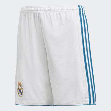 Shorts Real Madrid Home Replica Blanco Niño Fútbol