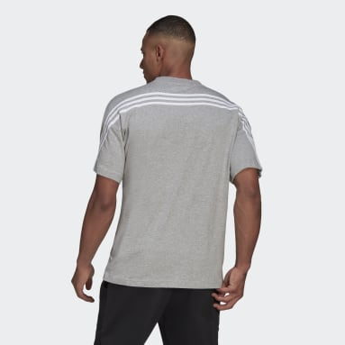Men's Sportswear Grey adidas Sportswear 3-Stripes Tee