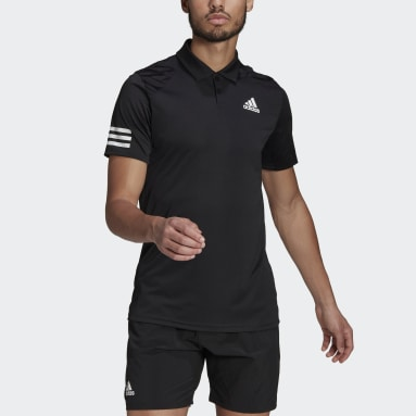 Tenis Club  Playera Polo 3 Franjas Negro Hombre Tennis