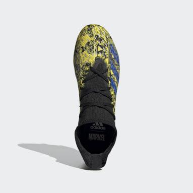 Chaussure Marvel Predator Freak.3 Terrain souple jaune Hommes Soccer