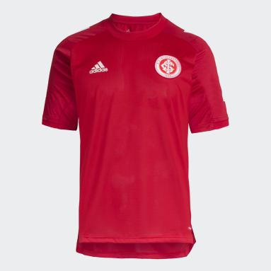 Camisa Treino Internacional Vermelho Homem Futebol