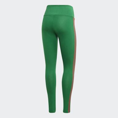 Dames Originals Groen Adicolor 3D Trefoil Legging