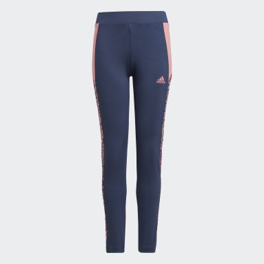 Tight adidas Designed To Move Leopard Bleu Filles Sportswear
