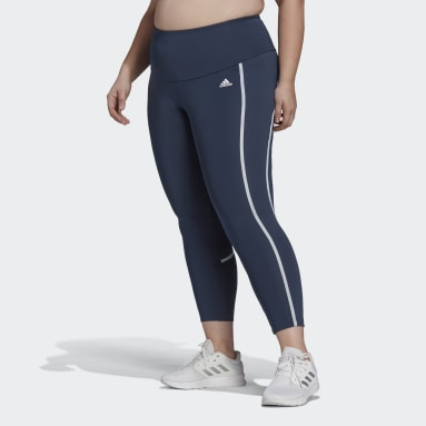 Women's Training Blue adidas Designed 2 Move AEROREADY Dance 7/8 Tights (Plus Size)