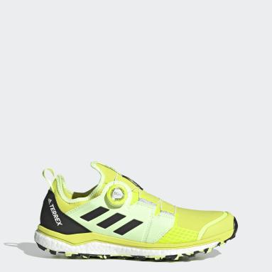 Men TERREX Yellow Terrex Agravic BOA® Trail Running Shoes