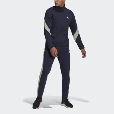 Men Sportswear Blue adidas Sportswear Cotton Track Suit