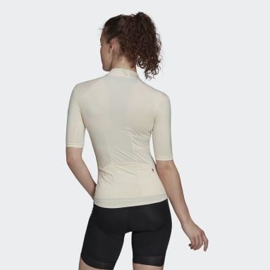 Ženy Cyklistika bílá Dres The Short Sleeve Cycling