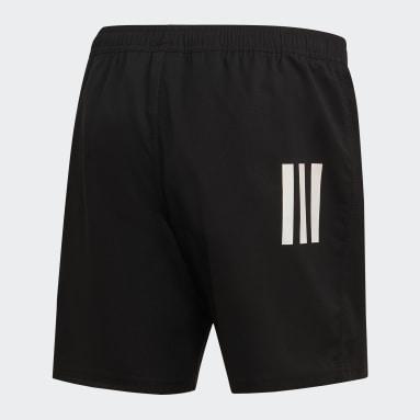 Männer Rugby 3-Streifen Shorts Schwarz
