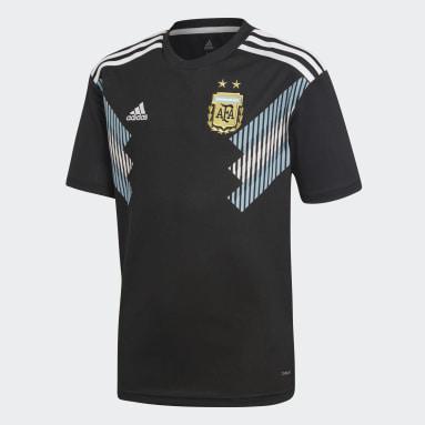 Réplica Camiseta Visitante Selección Argentina (UNISEX) Negro Niño Fútbol