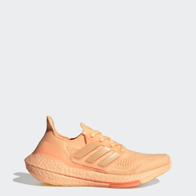 Women Running Orange Ultraboost 21 Shoes
