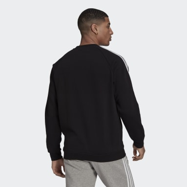 Men Originals Black Adicolor Classics 3-Stripes Crew Sweatshirt
