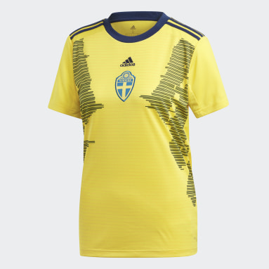 Women Soccer Yellow Sweden Home Jersey