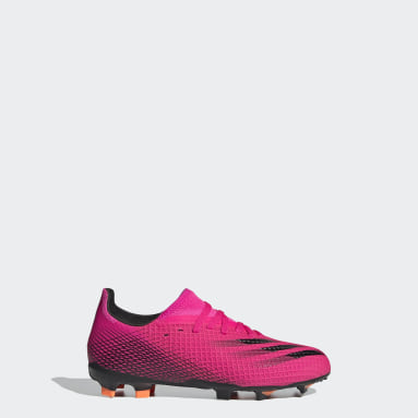 Children Soccer Pink X Ghosted.3 Firm Ground Cleats