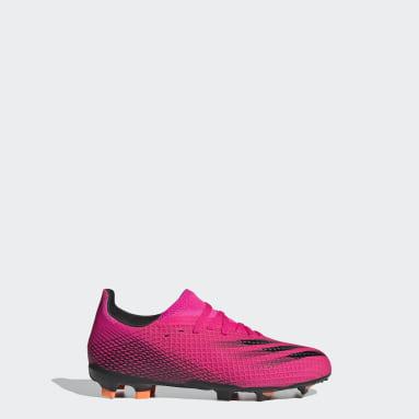 Kinderen Voetbal Roze X Ghosted.3 Firm Ground Voetbalschoenen