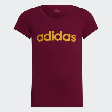 Camiseta Essentials Linear Burgundy Niña Sportswear