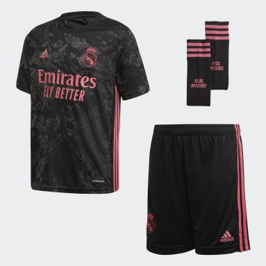 Kinder Fußball Real Madrid 20/21 Junior-Ausweichausrüstung Schwarz