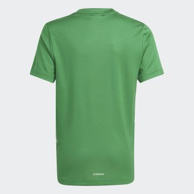 Kluci Cvičení A Trénink zelená Tričko AEROREADY